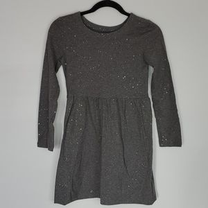 BRAND NEW: GAPKIDS Gray Knit Sparkle Dress